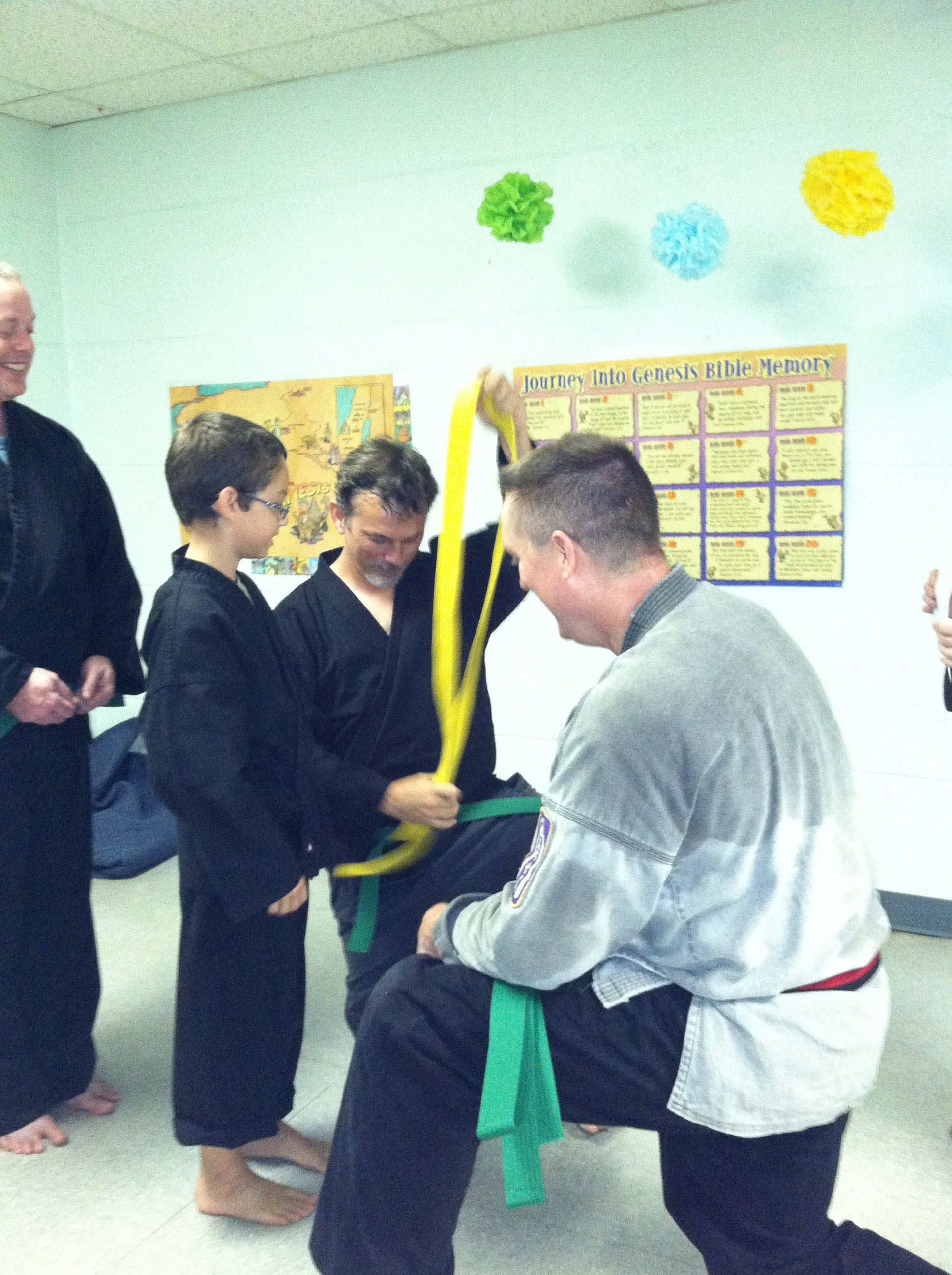 Ethan getting Green Belt