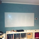 Whiteboard, cheap whiteboard, ikea whiteboard, easy whiteboard, glasstop whiteboard, using glass as a whiteboard