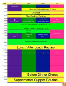 2013-2014 School Schedule
