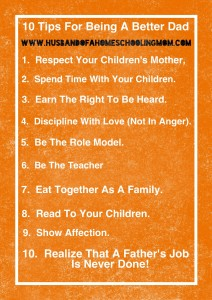 10 Tips For Being a Better Dad